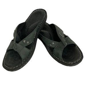KEEN Cush Slip-On Slide-In DkArmy Green Sandals -8